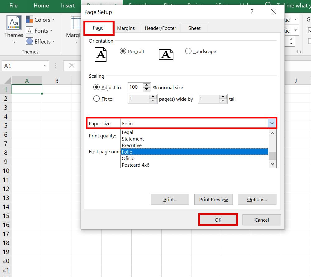 Cara Mengatur Ukuran Kertas di Microsoft Excel